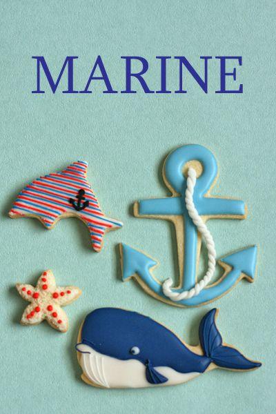 海の動物アイシングクッキー : coupe-feti