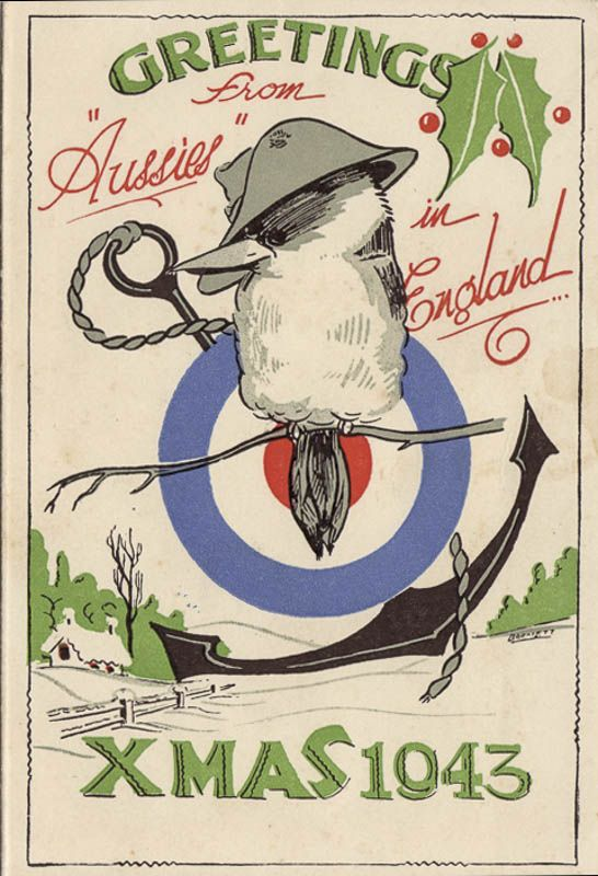 Christmas card sent from an Australian soldier in 1943