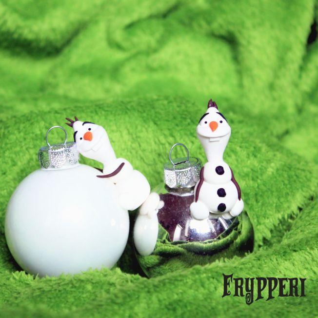 Pallina di Natale con Olaf di Frozen #fimo #handmade #polymeclay #pallinanatale #natale #olaf #disney #frozen www.frypperi.it www.facebook.com/frypperi