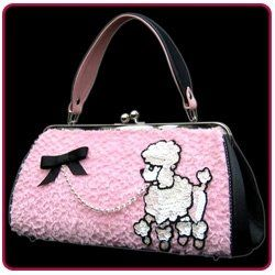 pink poodle purse (3 of my favorite things all in 1) posted by Redlandspoodles.com