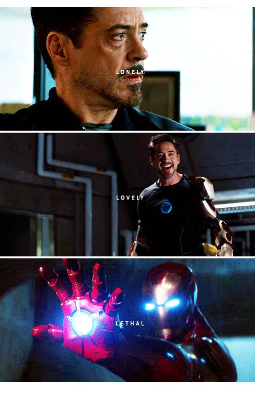 Tony Stark: Lonely. Lovely. LETHAL.