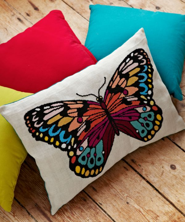 CrossStitcher April issue (264) big butterfly cushion by Felicity Hall