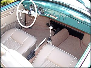 Look at this awesome interior! 1956-74 Volkswagen Karmann-Ghia History by Dan Jedlicka