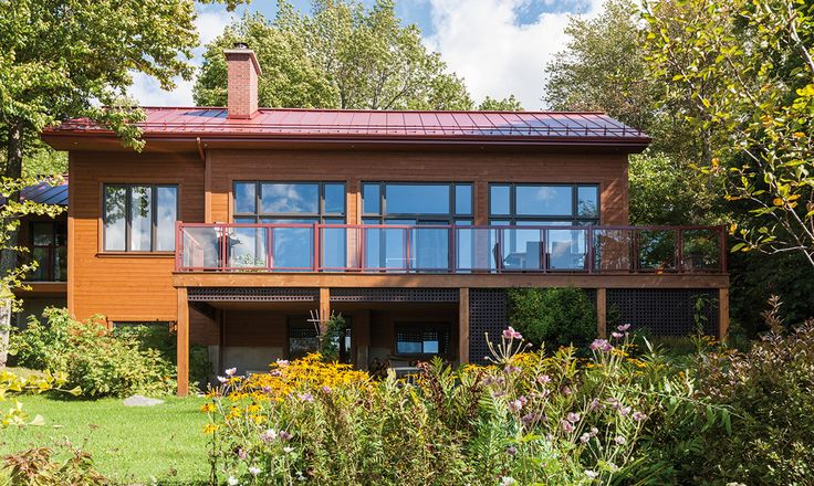 Contemporary Maibec Siding in Algonquin Amber-52 color...just amazing!!
