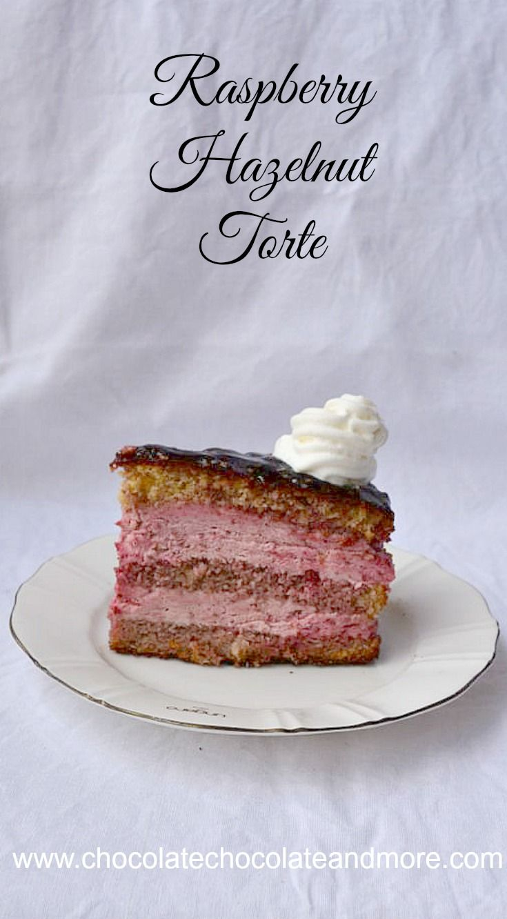 Raspberry Hazelnut Torte, a traditional nut-based cake soaked in fruit ...