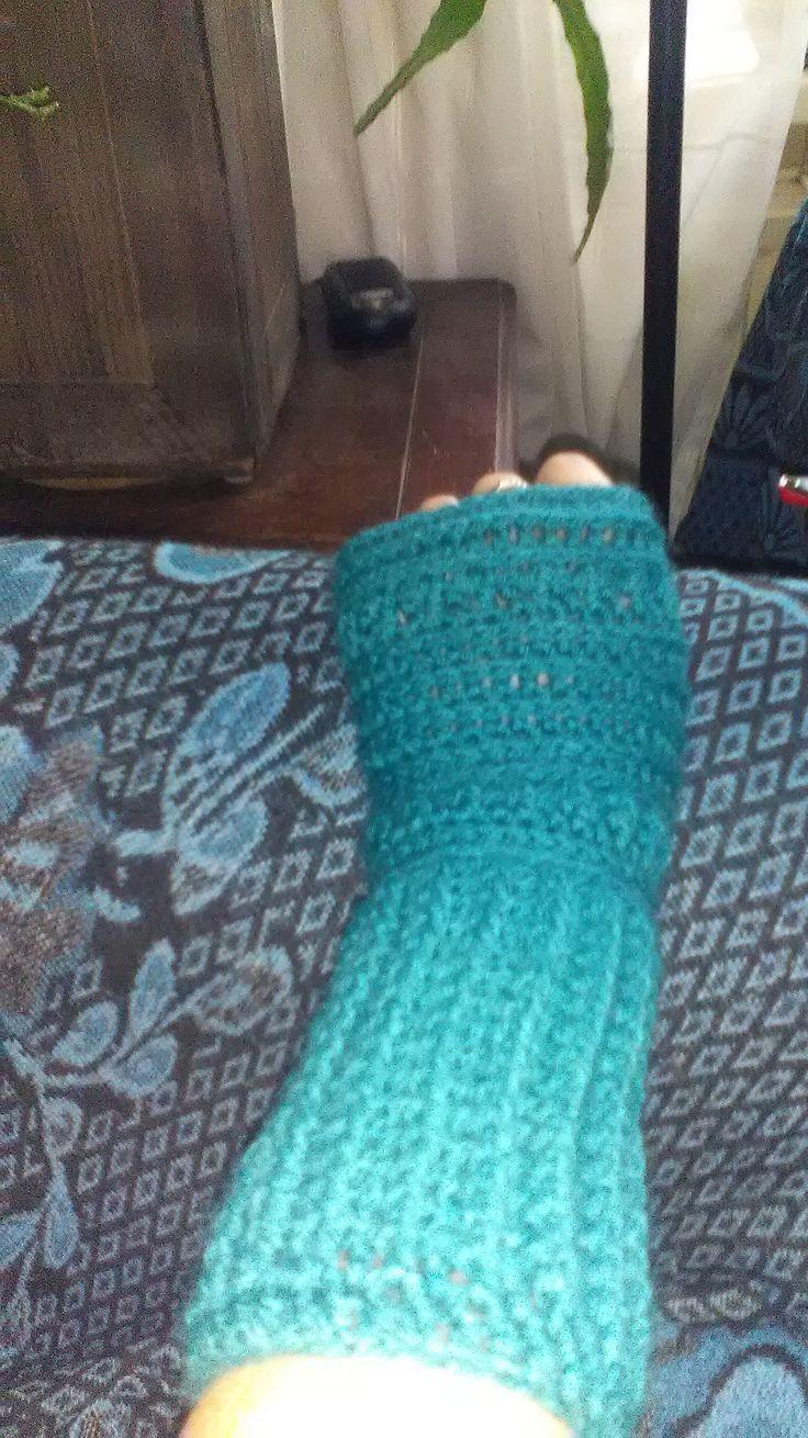 Vingerloze handschoen, gehaakt met ColourCrafter Dordrecht