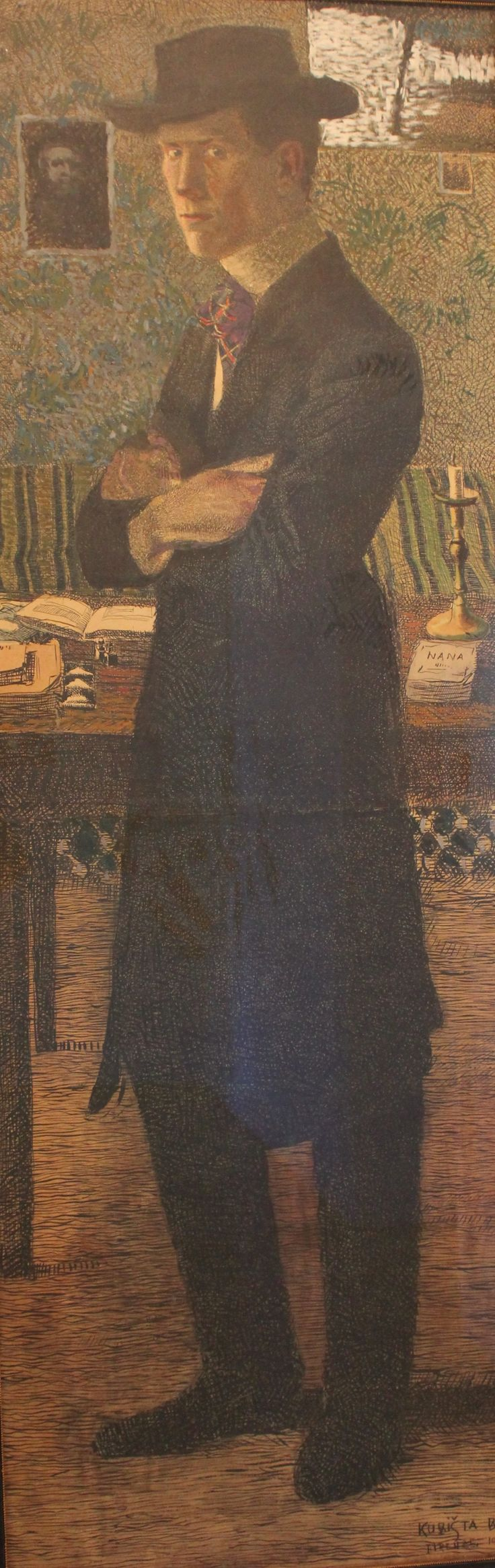 Self-portrait, Bohumil Kubišta, 1906.