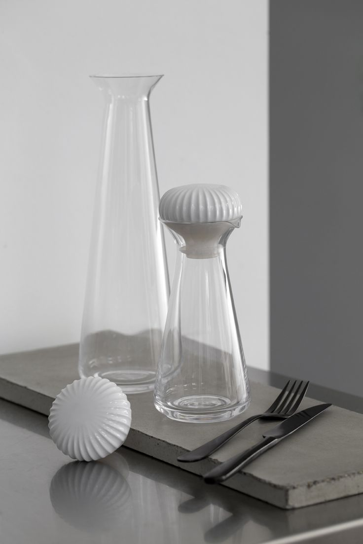 Carafe and Condiment bottle Hammershøi Tableware - Kähler Design Spring News 2015, Design Hans-Christian Bauer