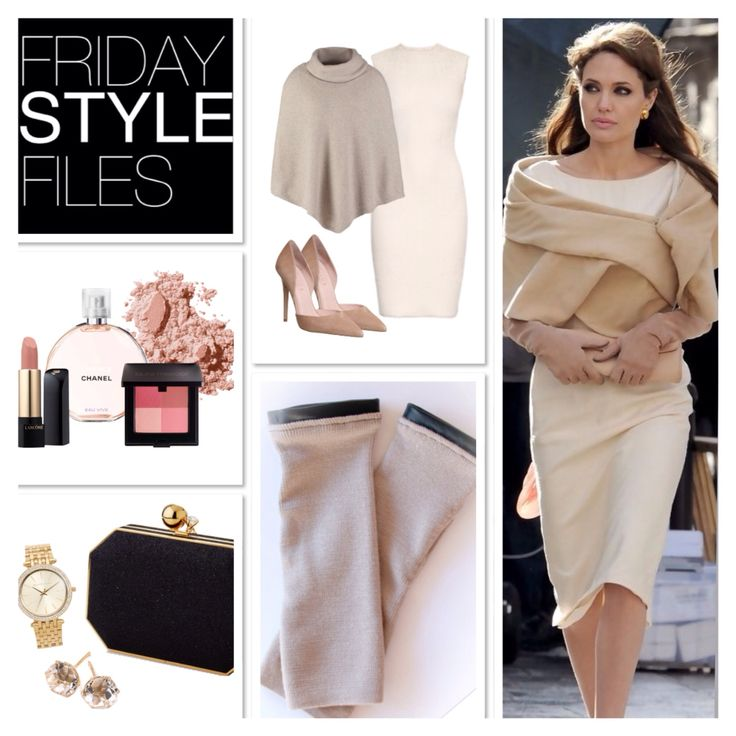 Angelina Jolie inspo on winter layering for that special occasion.   #angelina #jolie #fridaystylefiles #fashion #inspo #winter #gloves #poncho #zooki