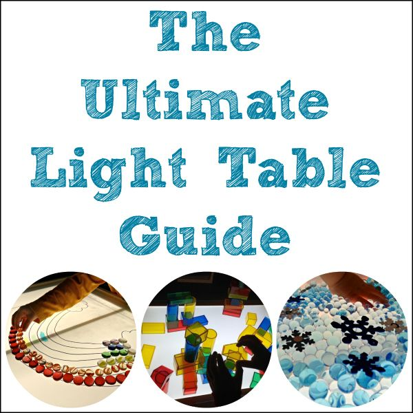 The Ultimate Light Table Guide on Pinterest - find all the best light play ideas in one spot for light tables, black light play, mirror play, natural light play, glow-in-the-dark play, and so much more!  It is organized by categories making it easier to find what you're looking for.  Come follow along!
