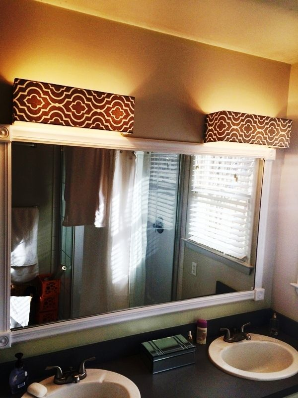 Vanity Light Cover Diy : 78+ images about light fixtures on Pinterest Bathroom vanity lighting, Easy diy and Bathroom ...