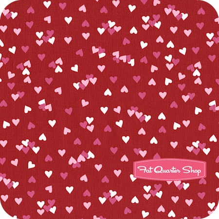 olive the ostrich red scattered hearts yardage sku 13049 3