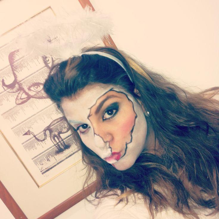 Ángel caído #halloween #maquillaje