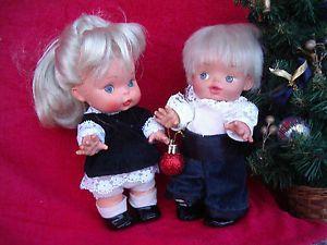 Coppia-Cirillo-Concettina-mini-Furga-bambola-bambole-vintage-doll