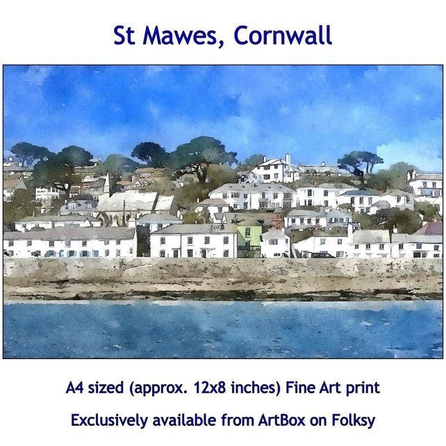 St Mawes, Cornwall, Quality Landscape Fine Art print. £12.00
