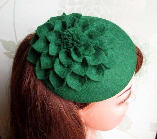 ... - Green on Pinterest | Ceramic Wool, Green Earrings and Cocktail Hat