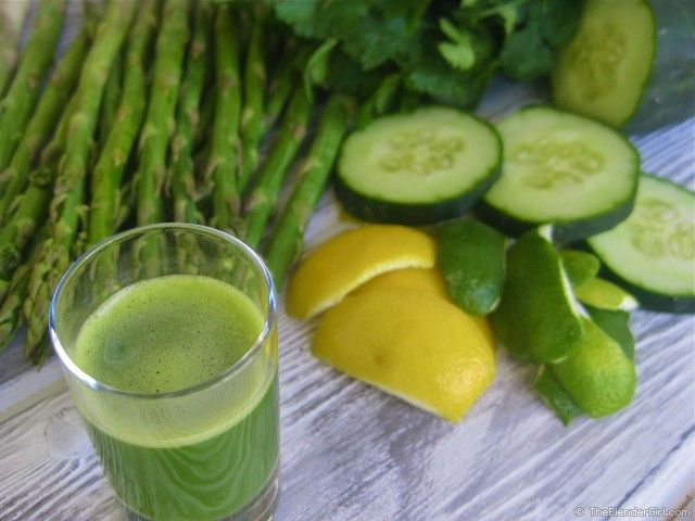 """The Ultimate Alkaline Aid"" Asparagus, Cilantro, Celery, Lemon, Lime, Kidney Juice - Have you tried asparagus juice? It is SO good for you. This alkaline asparagus blend is one of the most potent health-promoting recipes around."