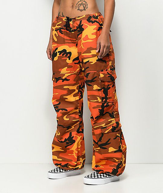 Rothco Orange Camo Vintage Fatigue Pants b4981e3d235