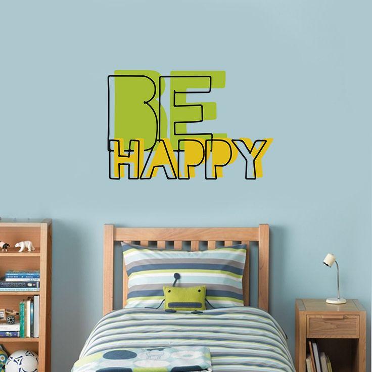 Be Happy - Vinilos Decorativos Fotomurales Adhesivos - Medellín