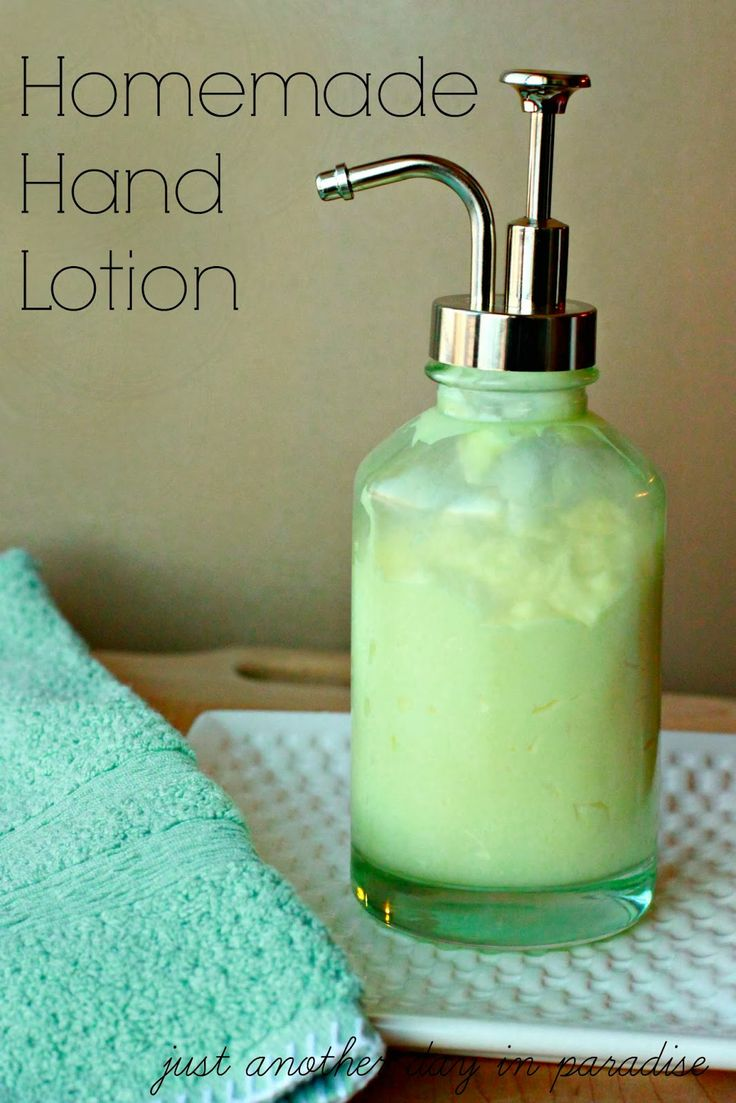 Just Another Day in Paradise: Homemade Hand Lotioin