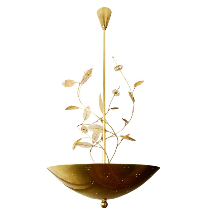 Large Paavo Tynell Chandelier with Floretes, Branches, and Leaves | From a unique collection of antique and modern chandeliers and pendants at http://www.1stdibs.com/furniture/lighting/chandeliers-pendant-lights/
