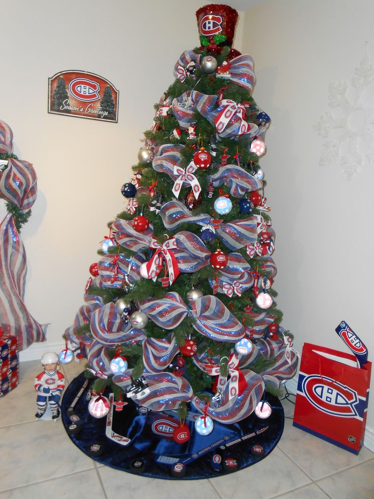 Montreal Canadiens Christmas Tree.  Go Habs Go!!!