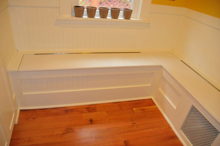 Diy Custom Kitchen Nook Storage Benches Simple But Nice Looking Storage Bench With Cushion