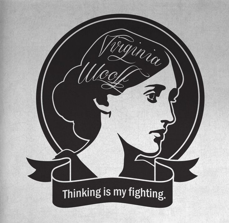 Thinking Is My Fighting T-Shirt, Virginia Woolf Crewneck Unisex T-Shirt