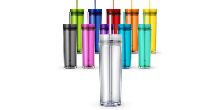 Skinny Tumbler is a 16oz double wall insulated acrlyic tumbler. Made from high-grade 100% BPA free acrylic plastic, this tumbler is durable and ideal for everyday use. The plastic push-on lid creates a tight seal to prevent leaks and comes with a matching