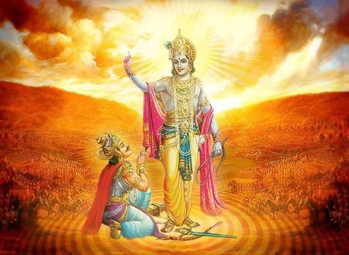 ***Bhagavad Gita 2.49*** O Dhananjaya, keep all abominable activities far distant by devotional service, and in that consciousness surrender unto the Lord. Those who want to enjoy the fruits of their work are misers. #BhagavadGita#LordKrishna#Spirituality#Quotes