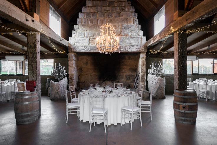 Peppers Creek Barrel Room. Elegance mixed with rustic charm is the feel for this romantic wedding venue in the Hunter Valley.