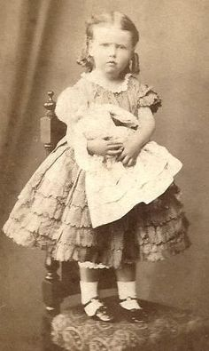 1860s Beautiful Little Girl with Her Large Doll CDV | eBay