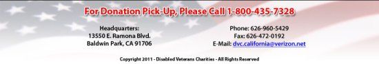 Disabled Veterans Charities – Online Donation Pick-up Request #charities http://donate.remmont.com/disabled-veterans-charities-online-donation-pick-up-request-charities/  #disabled veterans donations # Free Donation Pickup Service – Every Item Makes A Difference! If you have items that you would like to donate, please either call us at (800) 435-7328 or complete the form below and we will contact you with a scheduled day for pickup of your items. Please note that in most […]