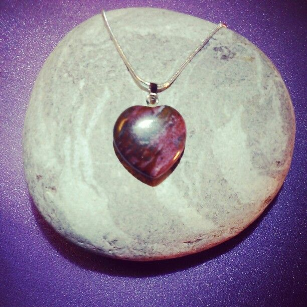 Silver + SemiPrecious Heart PENTANT Collection - INDIAN AGATE