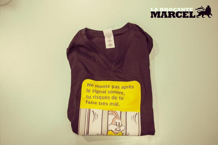 The original t-shirt à message.