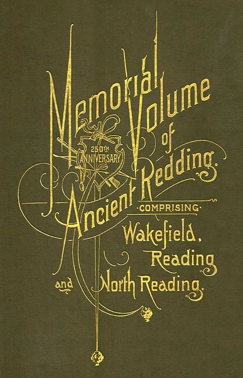 Elaborate cover stamping on a book published in 1896 by Loring & Twombly of Reading, Massachusetts. Printed by The Barta Press, Boston.