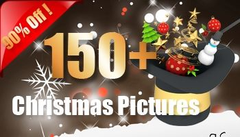 More than 150+ Christmas Pictures (3D Renders)