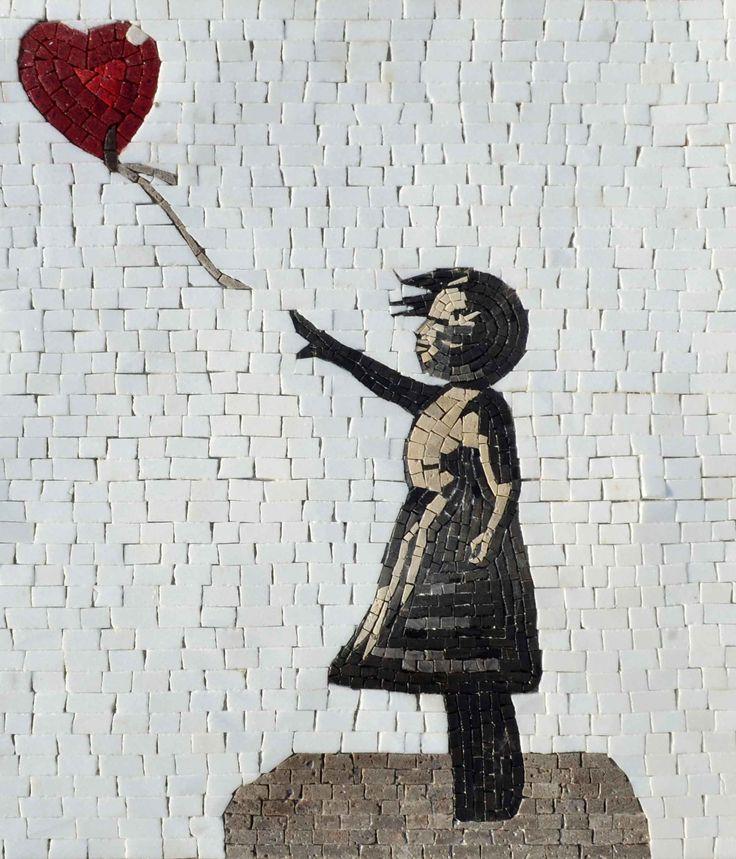 Banksy Mosaic Reproduction Girl with a Balloon Arte de