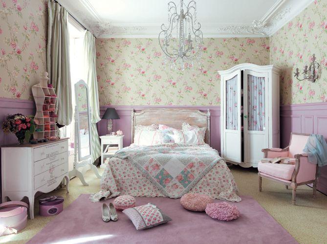 Chambre chambre style campagne anglaise 1000 id es sur la d coration et - Deco anglaise romantique ...