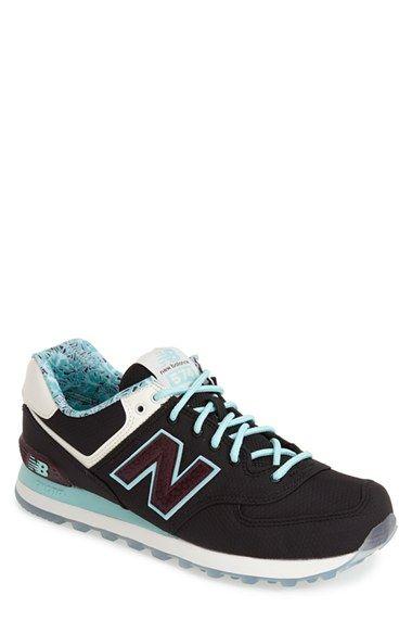 Men's New Balance '574 - Luau' Sneaker, Size 10 EE - Black