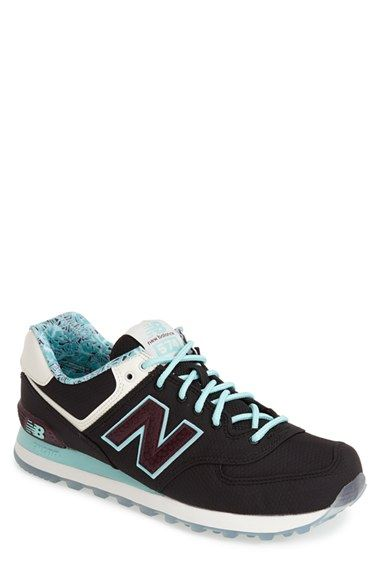 Men's New Balance '574 - Luau' Sneaker, Size 10 EE - Black