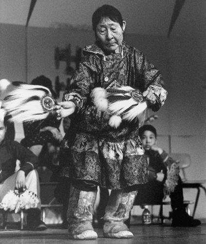 Yup'ik dancer, Cama-i Dance Festival - Bethel, Alaska 1998. James H. Barker