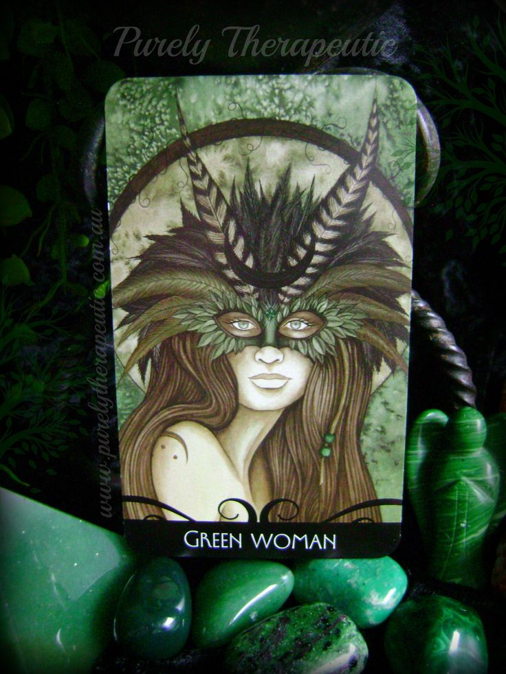 ~CARD OF THE DAY~ GREEN WOMAN 'The Enchanted Oracle' by Barbara Moore Purely Therapeutic ♥ www.purelytherapeutic.com.au https://instagram.com/purelytherapeutic