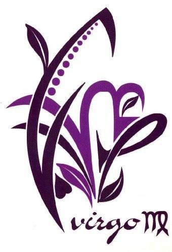 """Virgo Zodiac Sign Temporary Body Art Tattoos 2.5"""" x 3.5"""" TMI, http://www.amazon.com/dp/B0095BKV90/ref=cm_sw_r_pi_dp_Ucdrqb08EZ311 #bodyart #bodypaint #zodiac #virgo"""