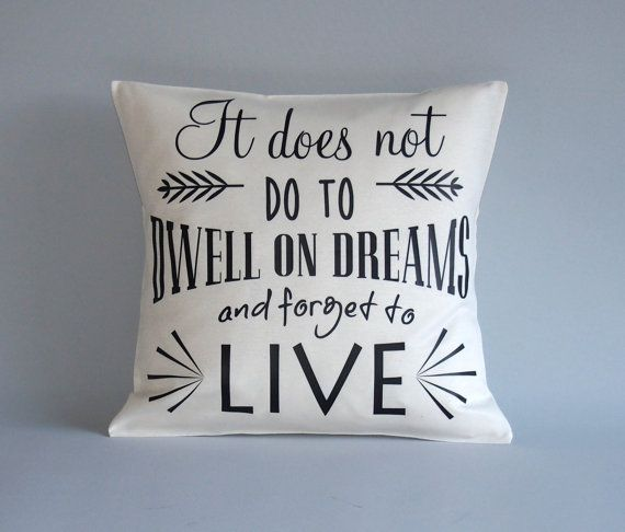 Harry Potter Pillow cover - Harry potter throw pillow- 16x16 18x18 20x20 24x24 - It does not do to dwell on dreams... - harry potter quote