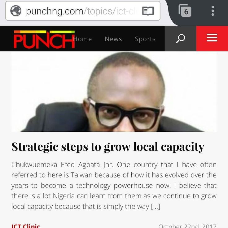CFA's latest piece in the Punch Newspapers stems from two recent developments that should be duplicated as much as possible.  Read more http://j.mp/2xX57Lk  In brief:  1. Sunday Folayan President Nigeria Internet Registration Association (NiRA) @niraworks posts on Facebook and in less than 4 months his community challenges him by contributing to fund a 40 computer-capacity Digital Literacy Centre at a cost of N10m. Imagine the future impact if properly managed.  2). Charles Uche Emembolu CEO…