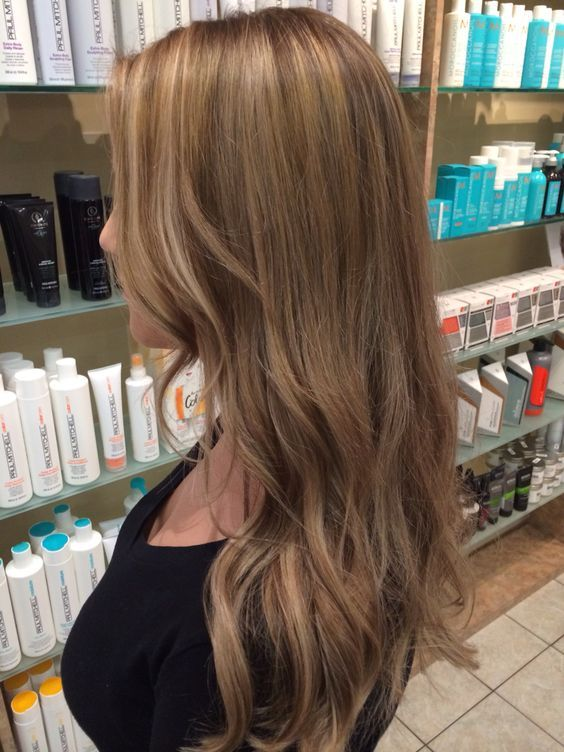 Natural looking level 7/8 ash blonde with fine highlights... Done with a full foil of 3 lowlights and highlights.: