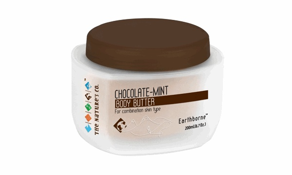 The CHOCOLATE-MINT BODY BUTTER consists of emollient properties that improves the appearance of the skin and makes the skin soft and silky. This body butter also stimulates and energises.  http://www.thenaturesco.com/products/Chocolate-Mint-Body-Butter.aspx?prodid=203=22