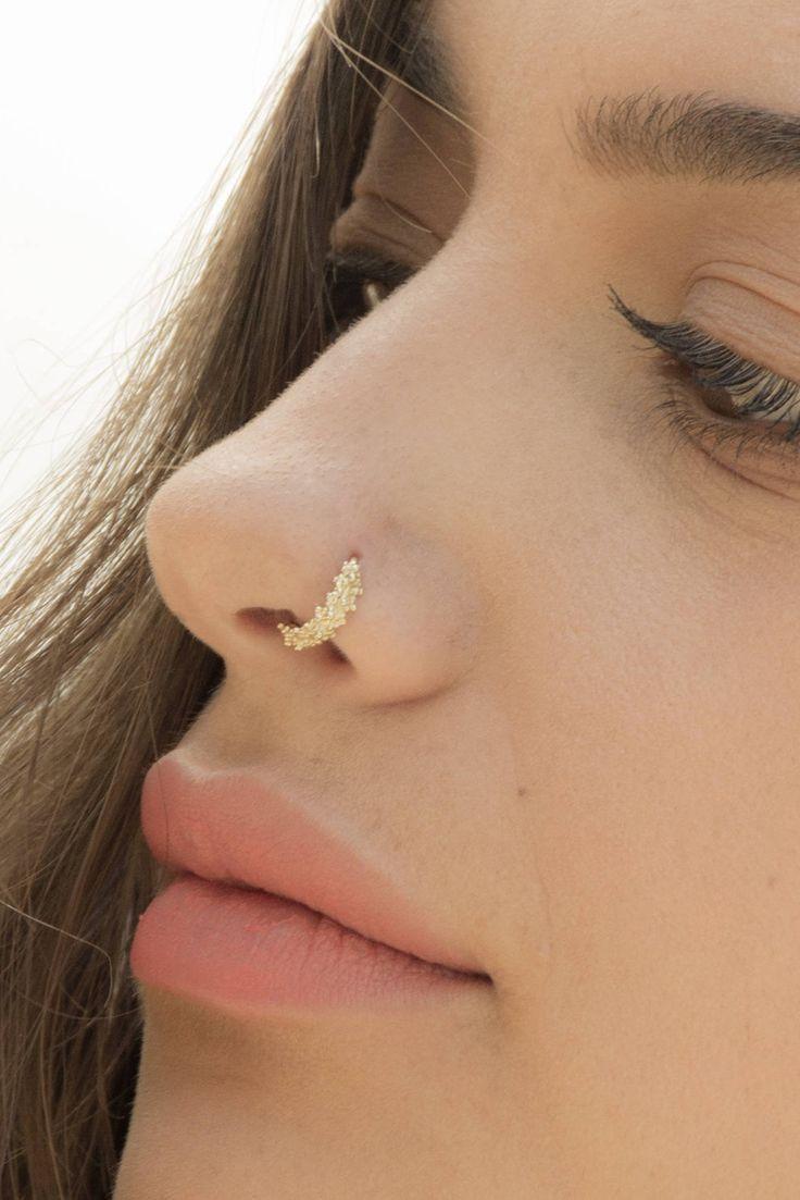 nose ring Indian nose ring nostril ring septum ring Nose Hoop Tribal septum tragus Silver nose ring hoop helix piercing