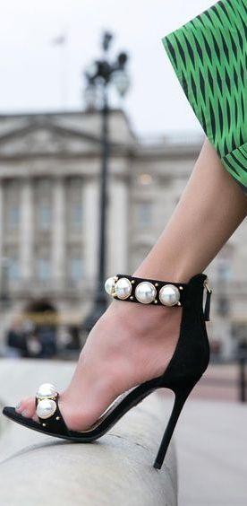 Louis Leeman pearl sandals